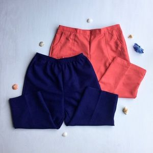 Alfred Dunner - Paired, Peach & Navy Capris